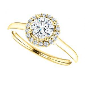 Briliantový prsteň Indigo zo 14k žltého zlata