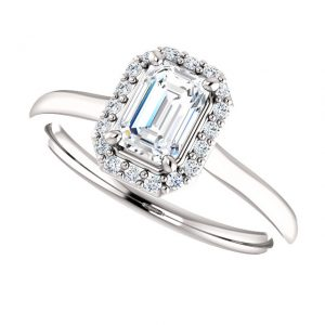 Briliantový prsteň Indigo zo 14k bieleho zlata