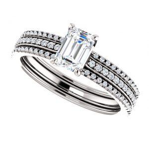 Briliantový prsteň Isabeau zo 14k bieleho zlata