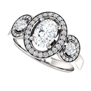 Briliantový prsteň Isolde zo 14k bieleho zlata
