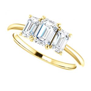 Briliantový prsteň Lavender zo 14k žltého zlata