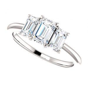 Briliantový prsteň Lavender zo 14k bieleho zlata