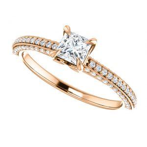 Briliantový prsteň Lysander zo 14k ružového zlata