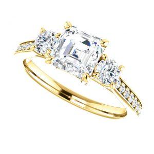 Briliantový prsteň Ondine zo 14k žltého zlata