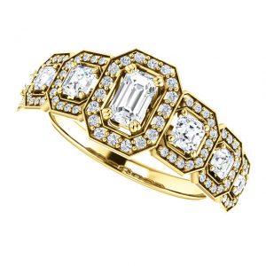 Briliantový prsteň Ottilie zo 14k žltého zlata