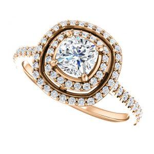 Briliantový prsteň Siobhan zo 14k ružového zlata
