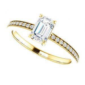 Briliantový prsteň Sonnet zo 14k žltého zlata