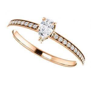 Briliantový prsteň Sonnet zo 14k ružového zlata