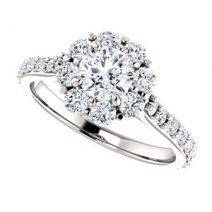 Briliantový prsteň Elodie zo 14k bieleho zlata