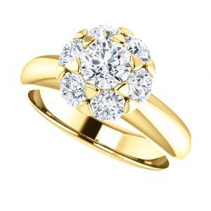 Briliantový prsteň Flora zo 14k žltého zlata