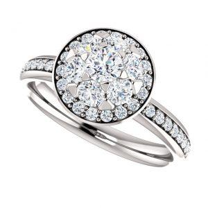 Briliantový prsteň Iris zo 14k bieleho zlata