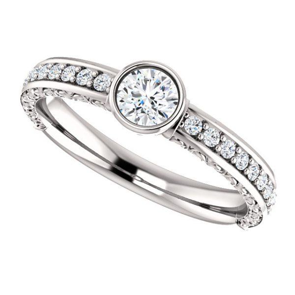 Briliantový prsteň Isla zo 14k bieleho zlata