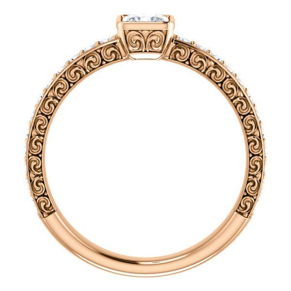 Briliantový prsteň Isla zo 14k ružového zlata