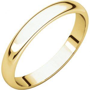 Polguľatá ľahká svadobná obrúčka zo 14k žltého zlata 4mm
