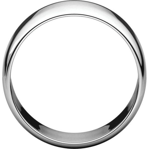 Polguľatá ľahká svadobná obrúčka zo 14k bieleho zlata 10mm