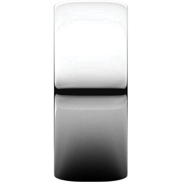 Polguľatá ľahká svadobná obrúčka zo 14k bieleho zlata 8mm